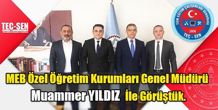 Özel Öğretim Kurumları Genel Müdürü Dr. Muammer YILDIZ'ı Makamında Ziyaret Ettik.