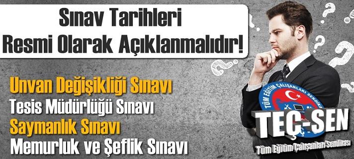 MEB SINAV TARİHLERİNİ RESMİ OLARAK AÇIKLAMALIDIR!