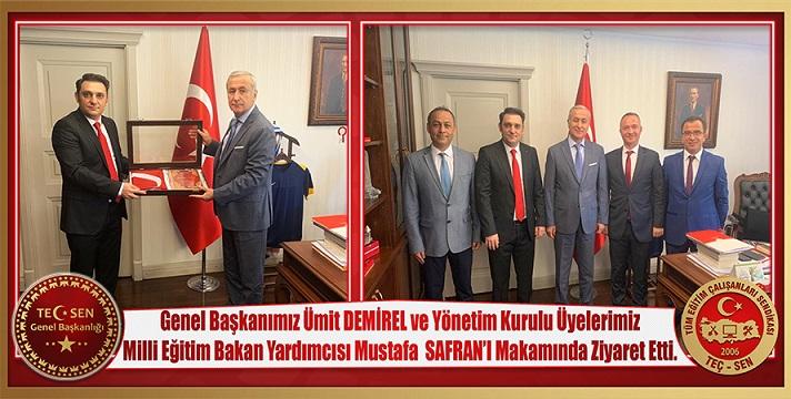 Bakan Yardımcımız Prof. Dr. Mustafa SAFRAN'ı Makamında Ziyaret Ettik.